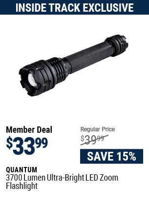 3700 Lumen Ultra-Bright LED Zoom Flashlight
