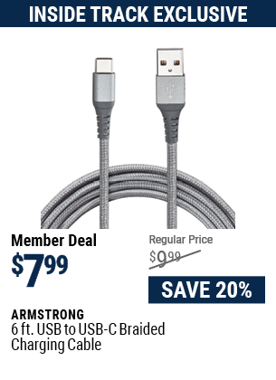 6 ft. USB to USB-C Braided Charging Cable