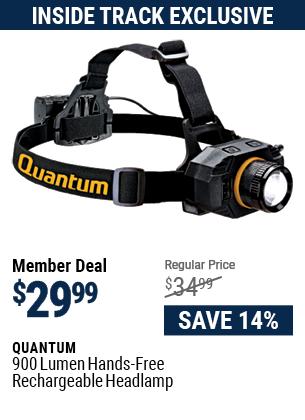 900 Lumen Hands-Free Rechargeable Headlamp