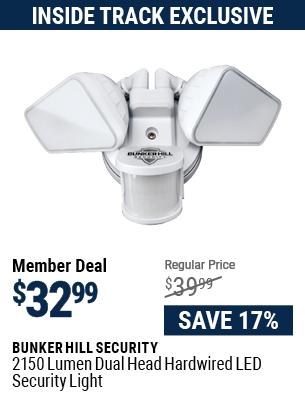 2150 Lumen Dual Head Hardwired LED Security Light