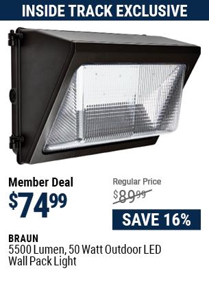 5500 Lumen 50 Watt Outdoor LED Wall Pack Light