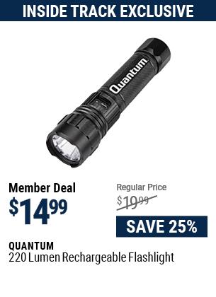 220 Lumen Rechargeable Flashlight