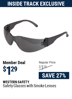 Safety Glasses with Smoke Lenses