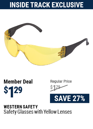 Safety Glasses with Yellow Lenses