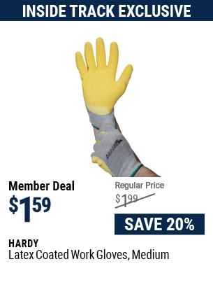 Latex Coated Work Gloves Medium