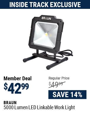 5000 Lumen LED Linkable Work Light