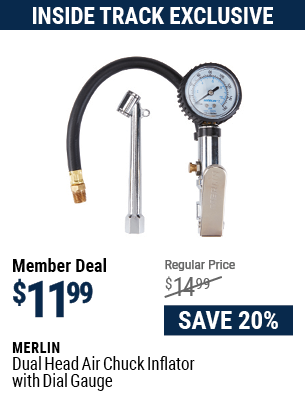Dual Head Air Chuck Inflator with Dial Gauge