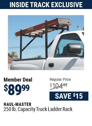 250 lb. Capacity Truck Ladder Rack