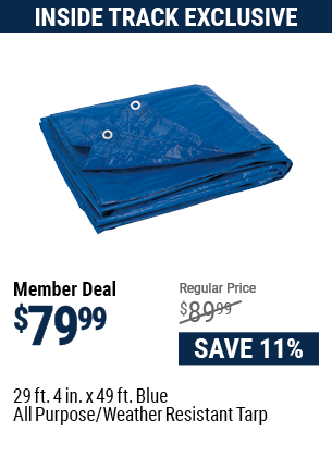 29 ft. 4 in. x 49 ft. Blue All Purpose/Weather Resistant Tarp
