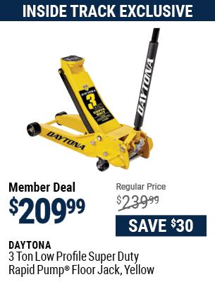 3 ton Low Profile Super Duty Rapid Pump® Floor Jack, Yellow