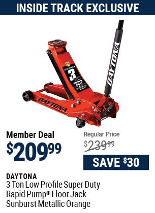 3 ton Low Profile Super Duty Rapid Pump® Floor Jack, Sunburst Metallic Orange