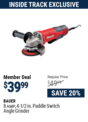 8 Amp 4-1/2 in. Paddle Switch Angle Grinder