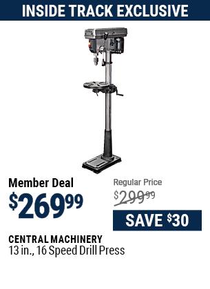 13 in. 16 Speed Drill Press