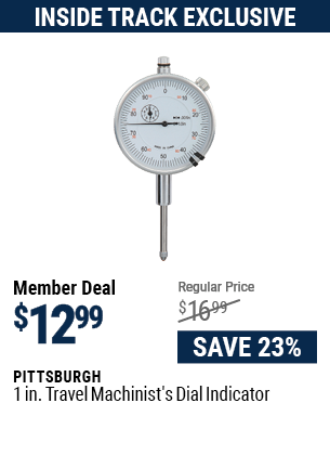 1 In. Travel Machinist's Dial Indicator