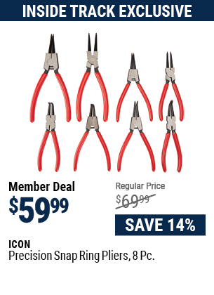 Precision Snap Ring Pliers, 8 Pc.