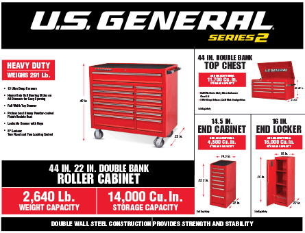 New Items - 44 in roller cabinet