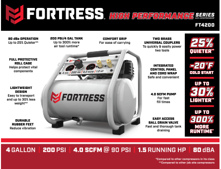 New Items -  Fortress Professional Air Compressor