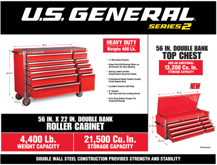 New Items - 56 in roller cabinets