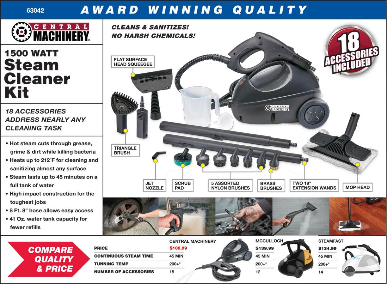New Items - 1500 Watt Steam Cleaner Kit