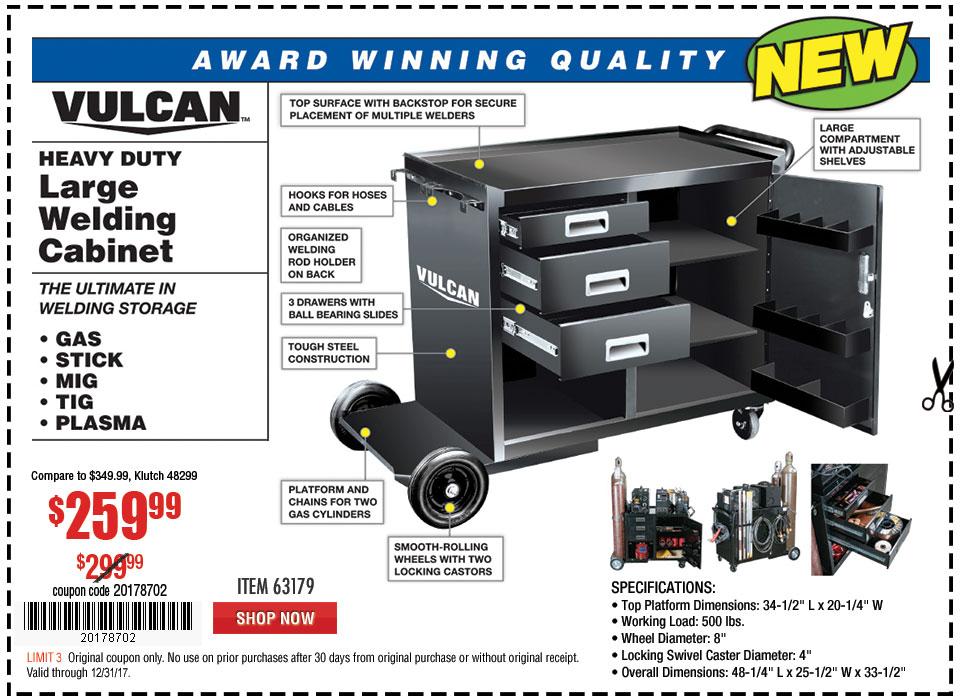 New Items - Heavy Duty Large Welding Cabinet