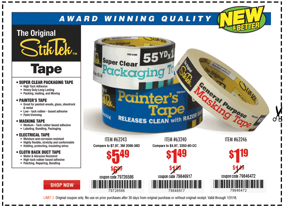 New Items - Painter's Tape
