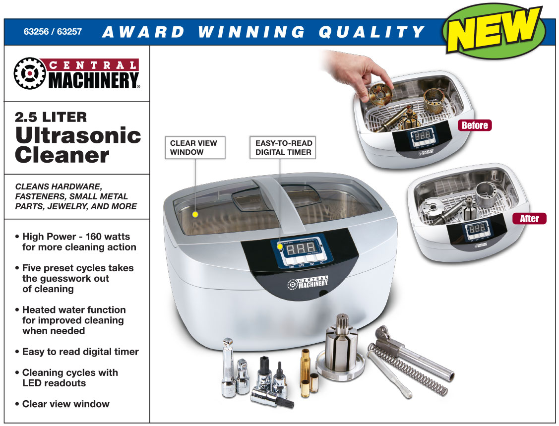 New Items - 2.5 Liter Ultrasonic Cleaner