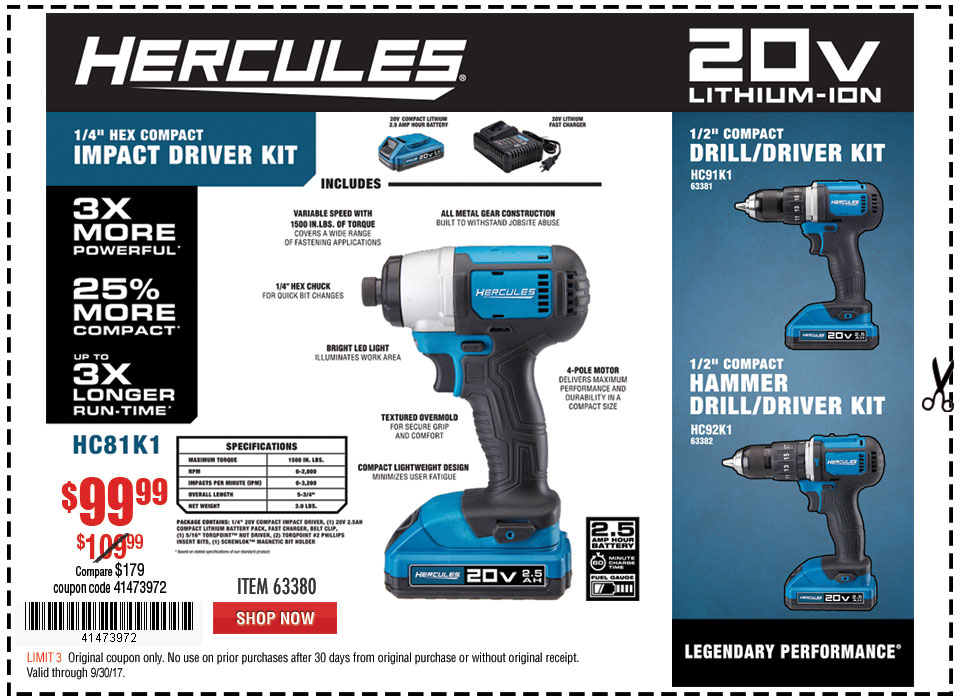 New Items - Hercules Impact Driver