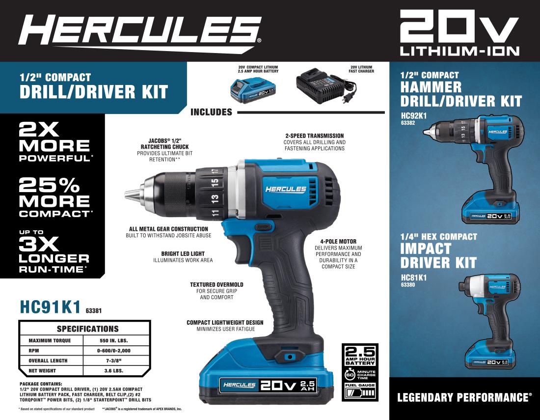 New Items - Hercules Drill