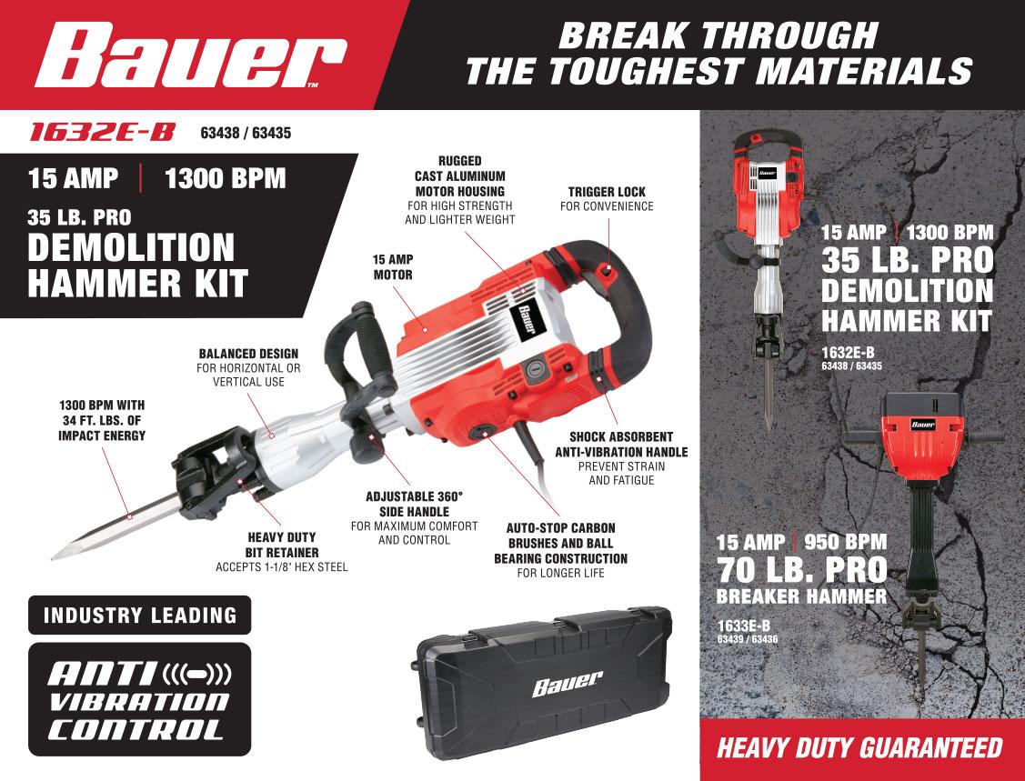 New Items - Bauer 15 amp Hammer Kit