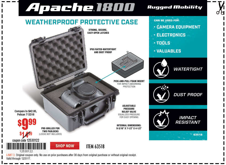 New Items - Watertight Protective Case - Small