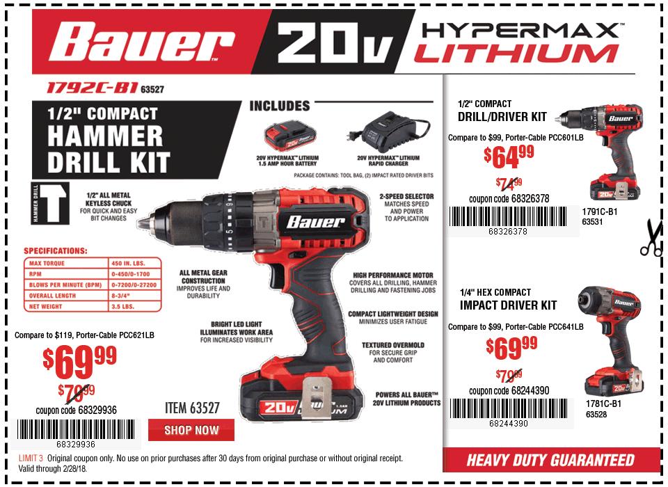 New Items - 20V Hypermax™ Lithium 1/2 in. Hammer Drill Kit