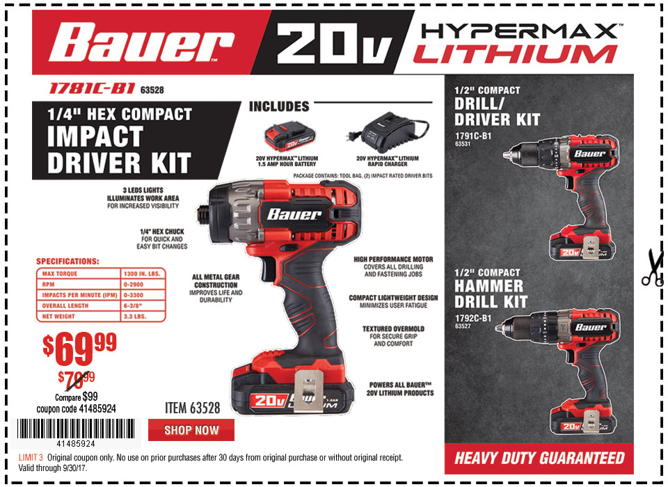 New Items - Bauer Impact Driver