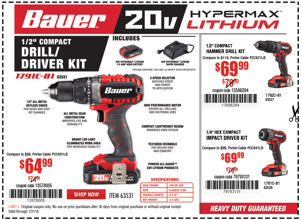 New Items - 20V Hypermax™ Lithium 1/2 in. Drill/Driver Kit