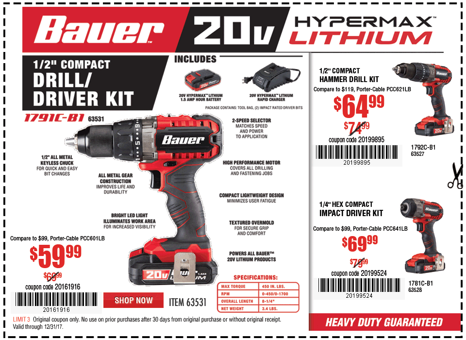 New Items - Bauer Drill