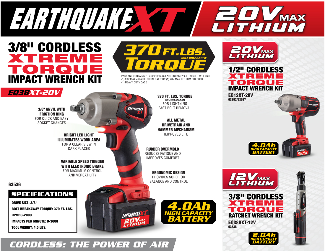 New Items - 20V Max Lithium 1/2 in. Cordless Xtreme Torque Impact Wrench Kit