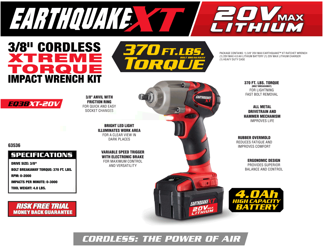 New Items - 12V Max Lithium 3/8 In. Cordless Xtreme Torque Ratchet Wrench Kit