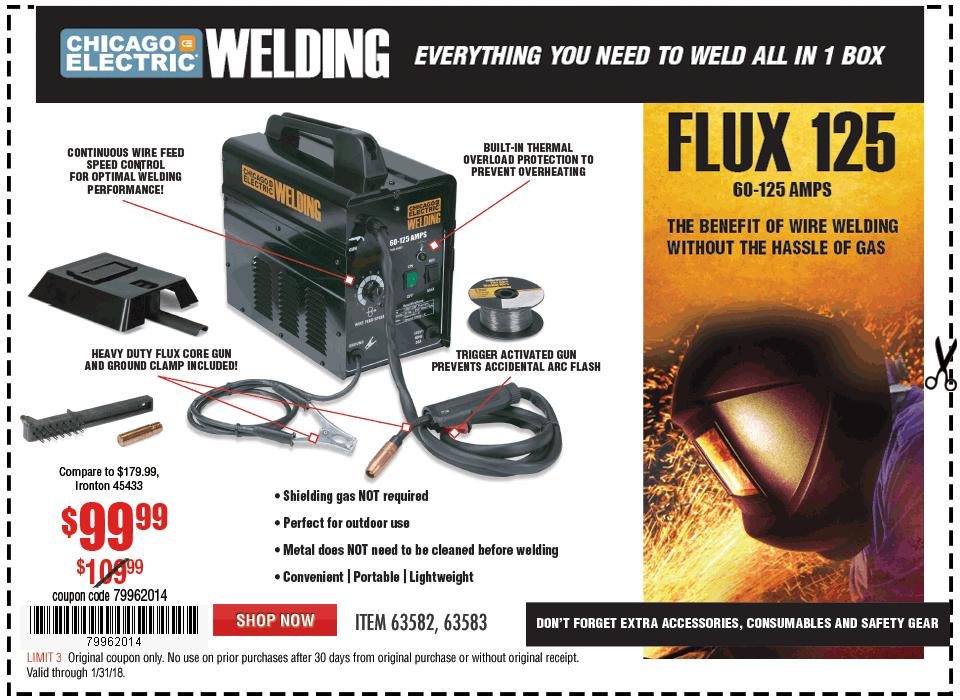 New Items - FLUX 125 WELDER