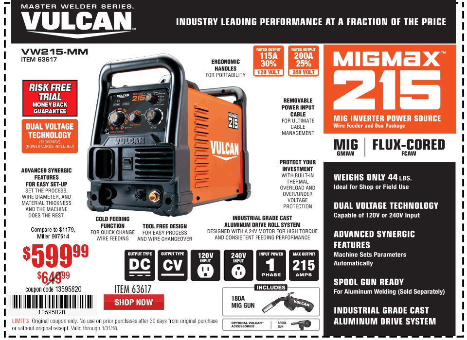 New Items - MIGMax™ 215 Welder with 120/240 Volt Input