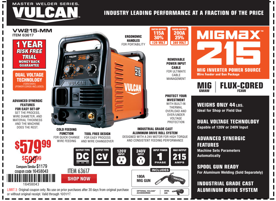 New Items - MIGMax™ 215 Welder with 120/240 Volt Input