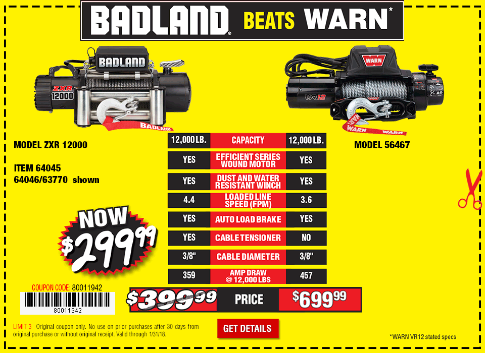 New Items - Badland winch
