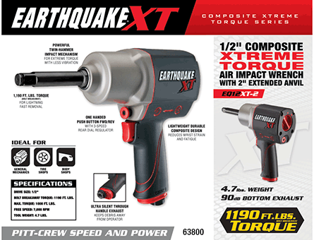New Items - 1/2 in. Composite Xtreme Torque Air Impact Wrench with 2 in. Anvil