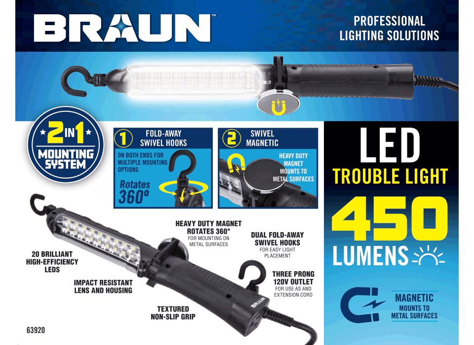 New Items - 450 Lumen LED Trouble Light