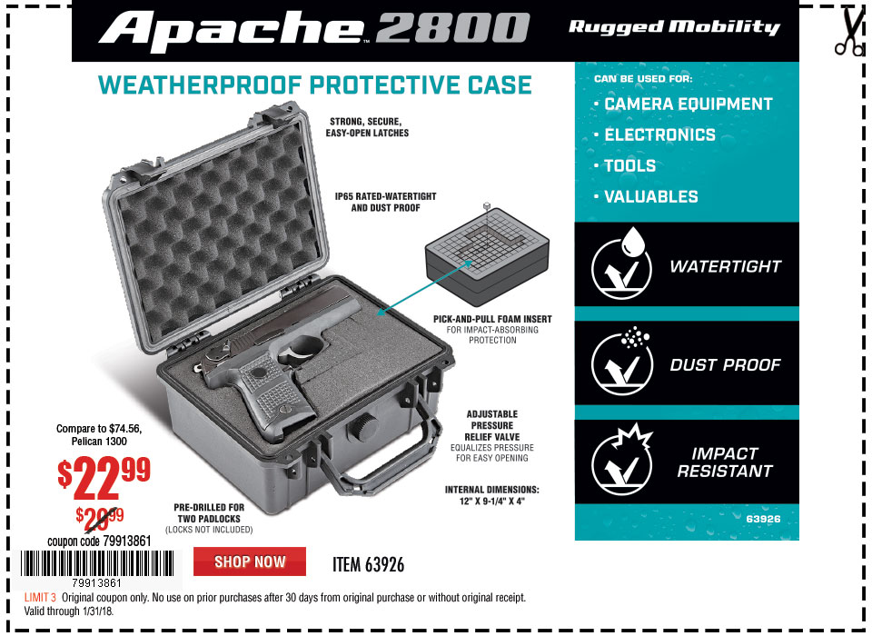 New Items - Watertight Protective Case - Medium