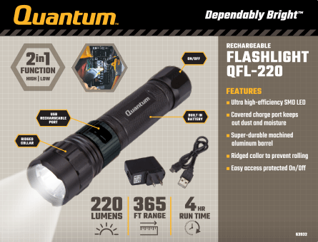 New Items - Quantum Flashlight QFL-220