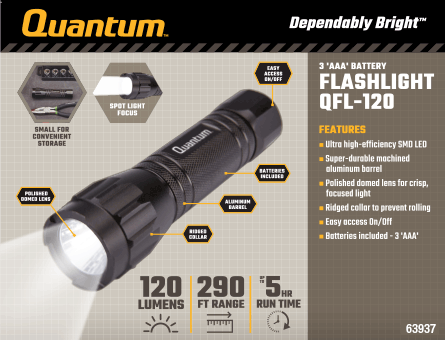 New Items - 338 Lumen Flashlight