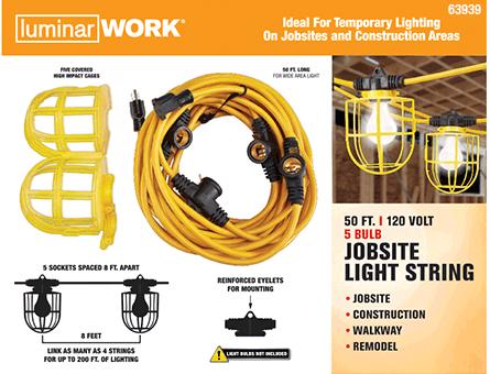 New Items - Jobsite light string