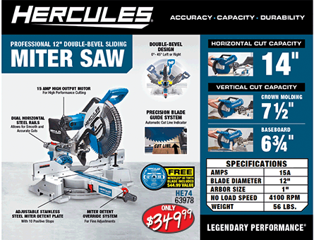 New Items - Hercules Miter Saw