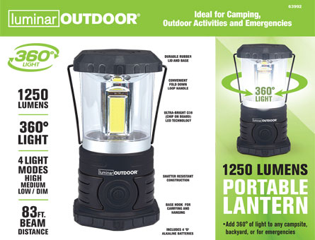 New Items - 1250 Lumen Portable Lantern