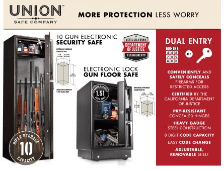 New Items - 10 Gun Electronic Security Safe