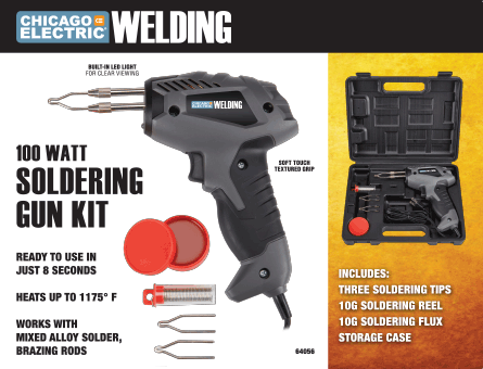 New Items - 100 Watt Soldering Gun Kit